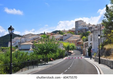 Roadway leading to Confrides Spain a european pueblo in the province of Alicante