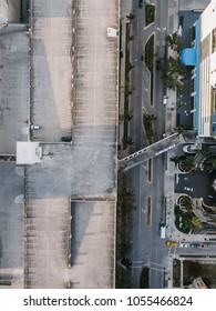 Roadway and parking on building roof, Miami Downtown, Florida, USA