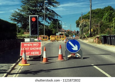 Roadworks on minor English road