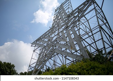 """Roanoke, Virginia """"The Star City"""" Iconic Star on top of Mill Mountain"""