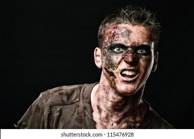 The roar  zombie is monster  in the studio