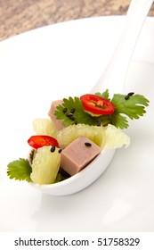 Roast Beef Asian Salad a la carte - roast beef, chili pepper, lime, cilantro and black sesame seeds.