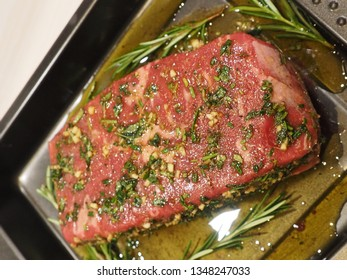roast beef before grilled