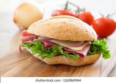 Roast Beef and Cheese Sandwich