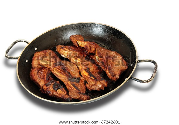 Roast beef in a skillet