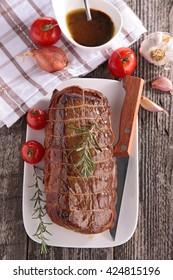 roast beef and vegetable