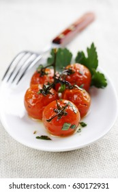roast cherry tomatoes on the vine