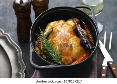 roast chicken in dutch oven