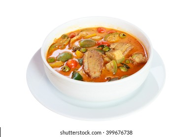 Roast duck with red curry.