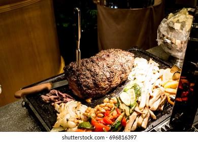 Roast of lamb with potatoes