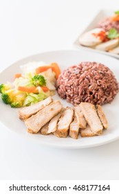 roast pork with berry rice - clean food