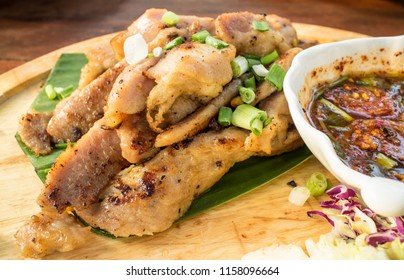 Roast pork with hot and spicy sauce.