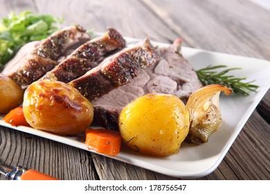 Roast pork neck
