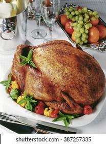 Roast Turkey, close up