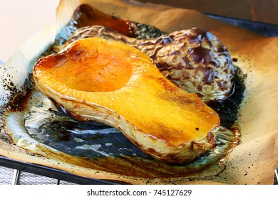 Roasted butternut squash, the base for many fall meals and soups