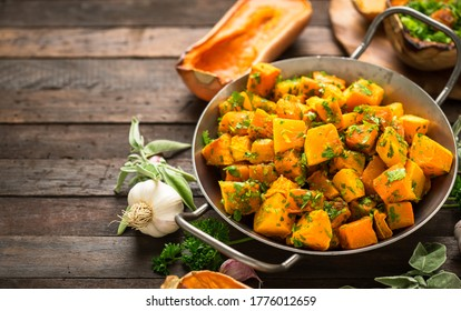 Roasted butternut squash with spices