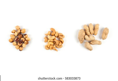 Roasted cashews close up. Food ingredients. Dried fruits