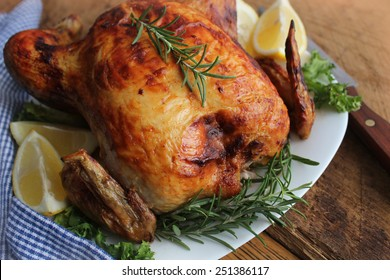 Roasted chicken with herbs