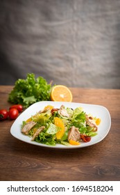 Roasted chicken salad with sesame dressing