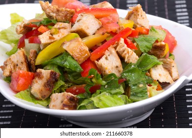 roasted chicken summer salad with vegetables