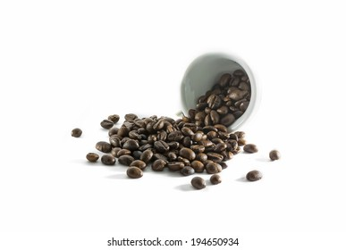 Roasted Coffee bean and cup