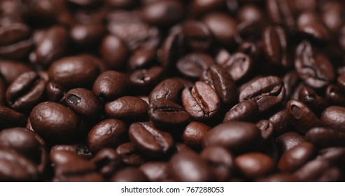 Roasted coffee bean texture