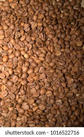 roasted coffee and coffee beans