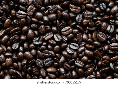 roasted coffee beans, as background