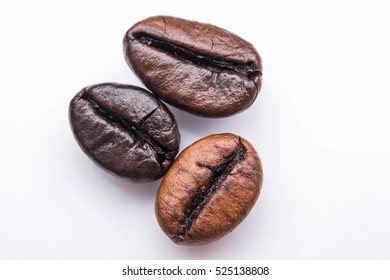 Roasted coffee beans, Brown coffee texture for background