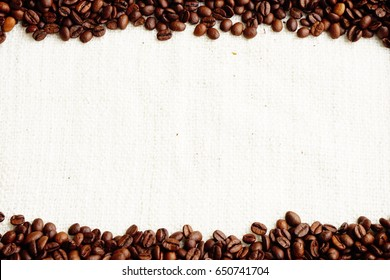 roasted coffee beans with space area , can be used as background