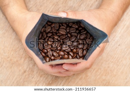 Roasted Coffee in package.