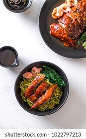 roasted duck with vegetable noodles - Asian food style
