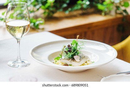 roasted fish with white wine
