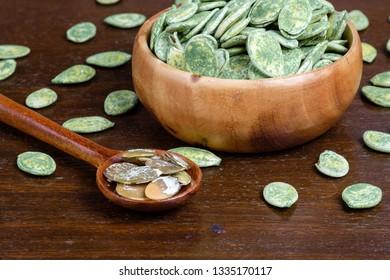 Roasted green tea pumpkin seeds