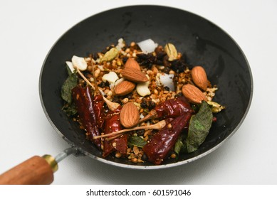 Malaysia vegetarian food images stock photos vectors shutterstock roasted indian spices masala ready to be grounded in coconut cut in half kerala forumfinder Image collections