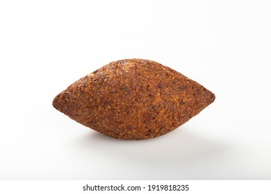 Roasted kibe, traditional Brazilian snack on white background. - Shutterstock ID 1919818235