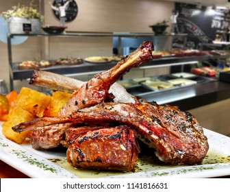 Roasted lamb chop