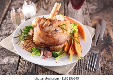roasted lamb chop and carrot
