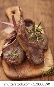 Roasted lamb chops