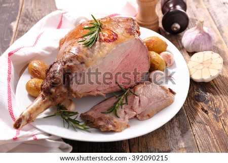 roasted lamb leg