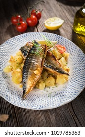 Roasted mackerel fillet with potato