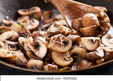 roasted mushrooms with onion