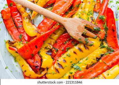 Roasted pepper with garlic