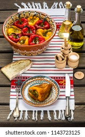 Roasted pepper salad is a traditional Romanian food