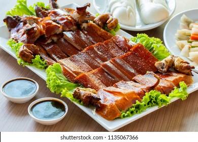 Roasted pig is skin crispy
