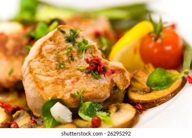 roasted pork fillet - tenderloin with vegetables