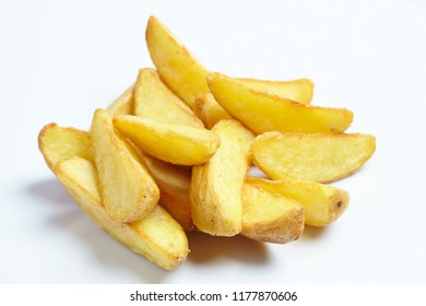 roasted potatoes on white
