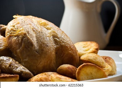 Roasted Poultry with Potatoes