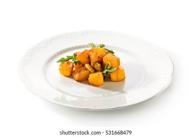 Roasted Pumpkin Dressed with Parsley