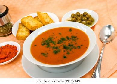 roasted red pepper and tomato soup with cream